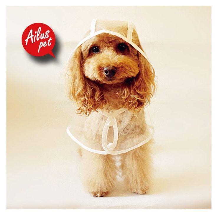 小型犬 服トイプードル 服チワワ 服 スケルトンレインコート