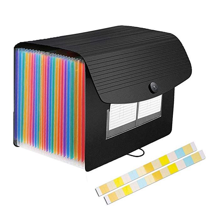 ghdonat.com 24 Pockets Expanding Files Folder/ A4 Expandable File ...