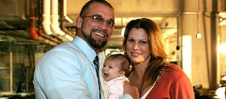 Charlie Haas & his wife Jackie (Gayda) Haas, with their oldest daughter Kayla Jacquelyn Haas