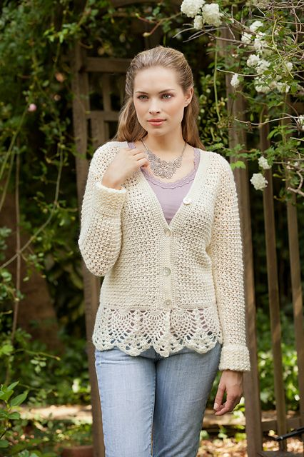 Ravelry: Pineapple Cardigan pattern by Karen Ratto-Whooley