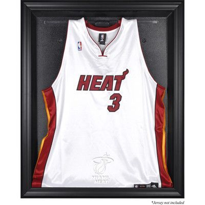 Mounted Memories NBA Logo Jersey Display Case Frame Finish: Black, NBA Team: Miami Heat