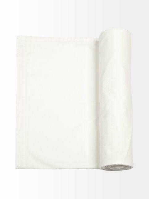 <3 Perkaalipuuvillainen, valkoinen aluslakana koossa 260 X 270