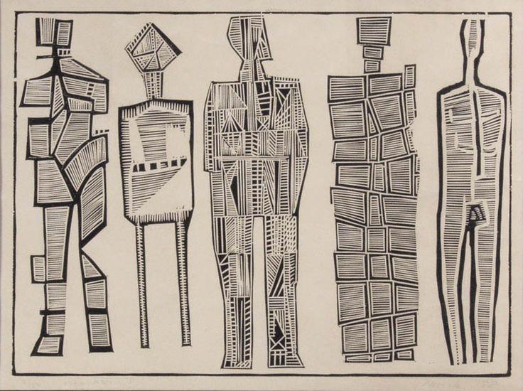 Jerzy Panek: Obłąkani I, 1958