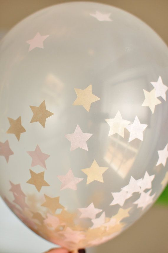 16 Inch STAR Confetti Balloons Wedding Twinkle by DecorBySK