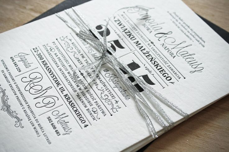 Black & White Letterpress Invitations