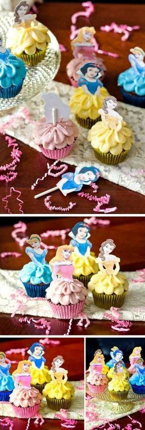 How to Make Disney Princess Cupcakes