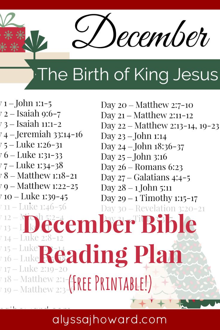 As Christians, we often struggle with how to handle Santa Claus with our young children but perhaps our problem isn't really about Santa at all. It's about the heart. What are we really celebrating - Jesus or Santa? Be sure to check out this month's Bible reading plan all about the birth of our King Jesus! #December #BibleReadingPlan #Advent #Christmas #BibleStudy #FreePrintable