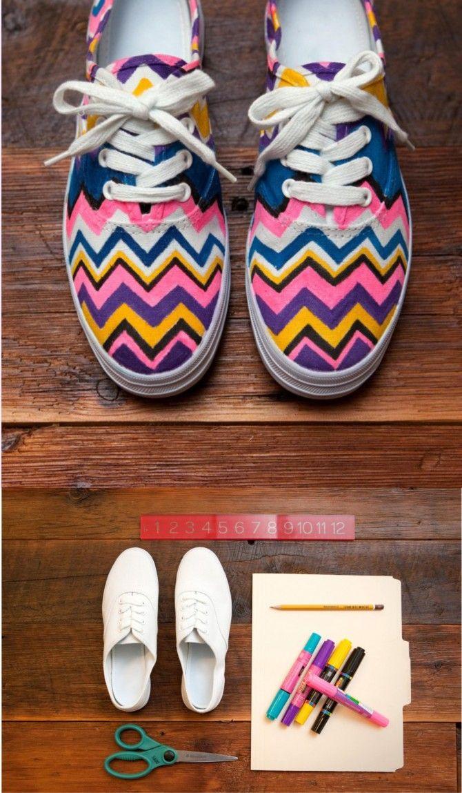 personalizar zapatillas DIY muy ingenioso 1