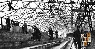 The railway stand. Port Vale FC.