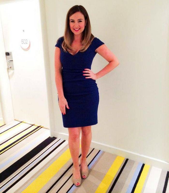 Beautiful blue dress by Liza Emanuele
