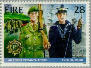 1988 Irlanda-Uniforme de las Unidades de Reserva del Ejército y la Marina