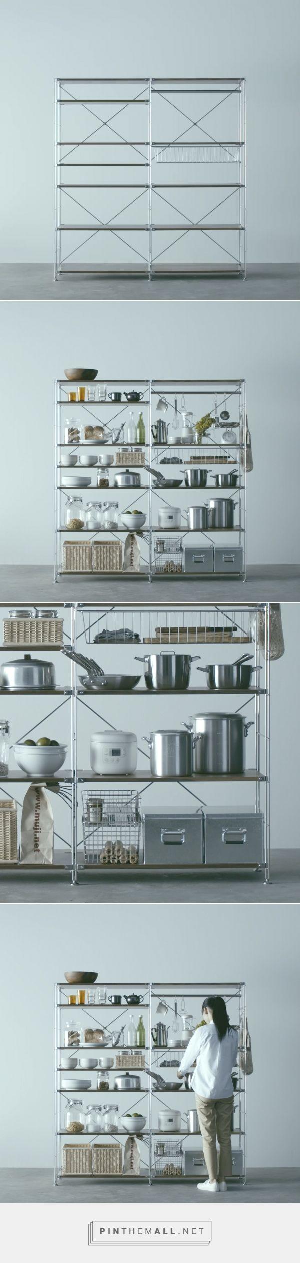 Utilícelas en la cocina - Estanterías de acero | Compact Life | MUJI