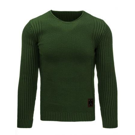 Pohodlný pánský svetr v barvě olivové