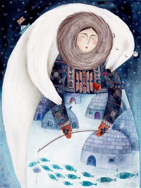 kürti andrea - polar bar illustration. So beautiful.