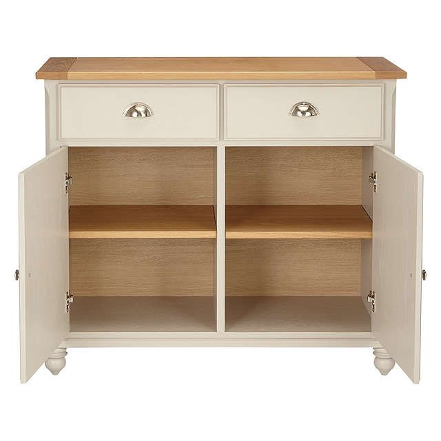 BuyJohn Lewis Audley Small Sideboard, Soft Grey Online at johnlewis.com