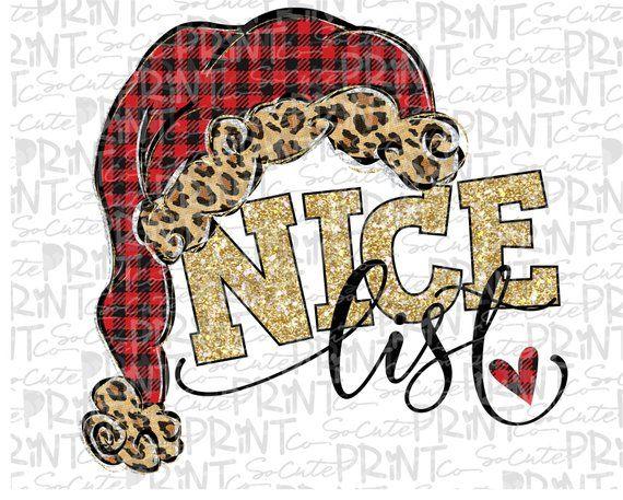 Christmas Nice List Clipart Christmas Png File For Etsy Clip Art Christmas Nice List Christmas Clipart