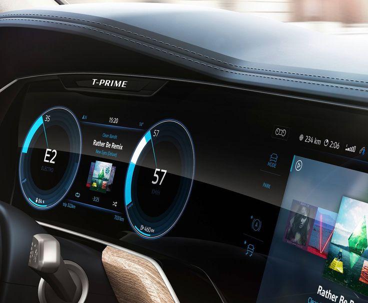 Volkswagen T-Prime Concept 2016 Cluster details
