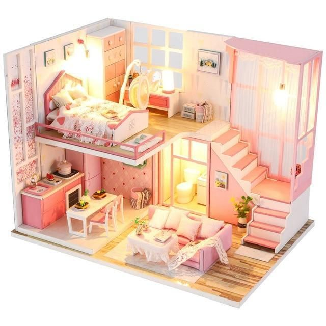 Dollhouse Miniatures Build Kit 6 Dollhouse Furniture Kits Doll House Plans Miniature Dollhouse Furniture