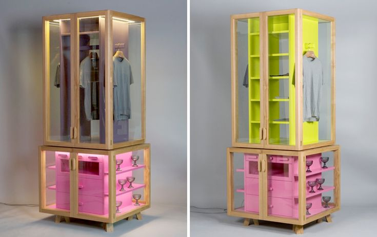 ropero (modular wardrobe) by Hierve: this looks like a pretty good solution for small spaces, unfortunately I guess only 10% of my things would fit there...