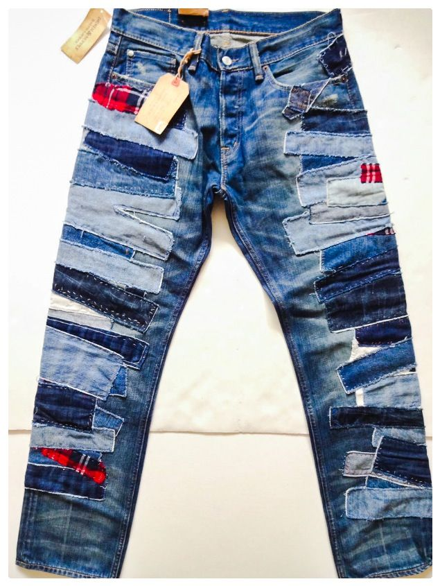 1000  ideas about Patchwork Jeans on Pinterest | Patch jeans
