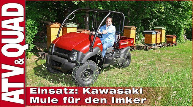 Kawasaki Mule 610 4WD: Side-by-Side im Einsatz beim Imker Und hier geht´s zum Video: http://youtu.be/JhaiDcD_Df4 Quad-Händler Hans Baumgartner hat dem in Wien ansässigen Imker Detlef Schuh eine Kawasaki Mule überstellt; nun ist das Side-by-Side im Einsatz beim Imker http://www.atv-quad-magazin.com/aktuell/kawasaki-mule-side-by-side-im-einsatz-beim-imker/