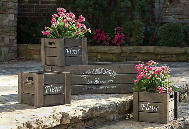 Napa Home & Garden Left Bank Crates - 4 for $59! on One Kings Lane.
