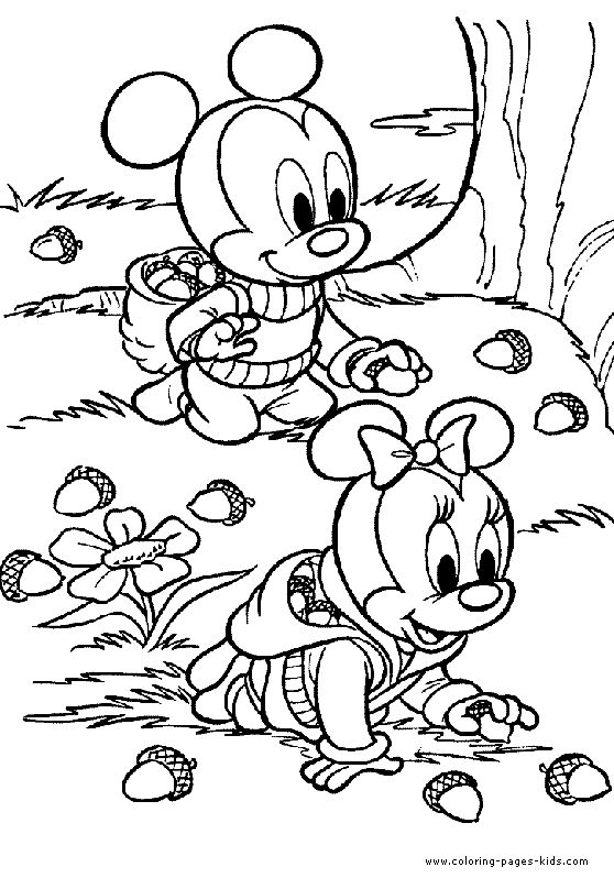 micky and minnie searching for eichorns color page