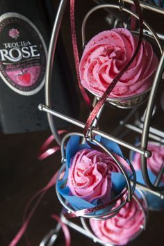 Tequila Rose Strawberry Cream Cupcakes. @alexisday14 !