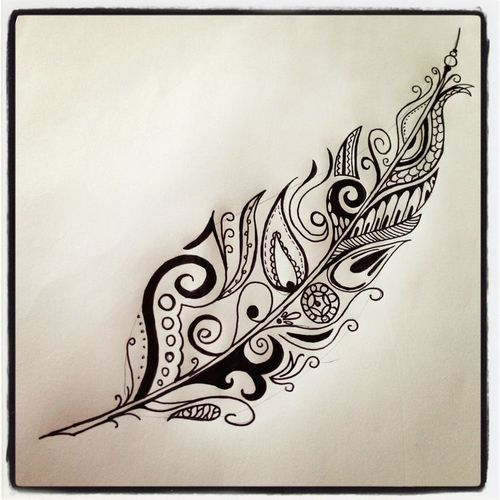 feather tattoo. We Heart It.