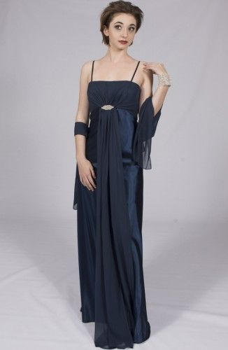 Long Satin Evening Gown-California Collection