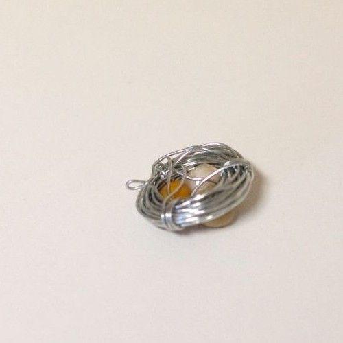 Colar ninho de pássaro (P.A.P.) - Bird nest necklace (D.I.Y.)