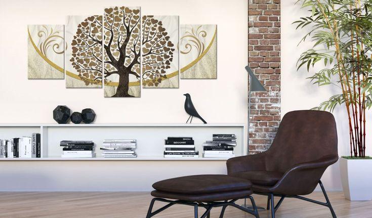 Intérieur dans le style hygge - dans la collection de tableaux bimago vous trouverez de nombreuses décorations qui vous permettront de créer un coin chaleureux dans votre maison #intérieurs #hygge #stylehygge #tableau #tableaux #abstractions #bimago