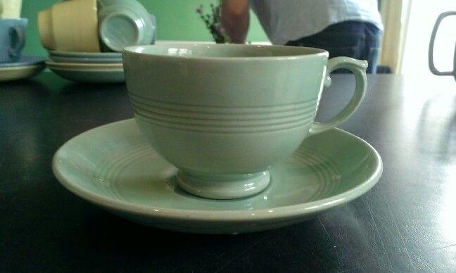 Unusual shape Beryl tea cup