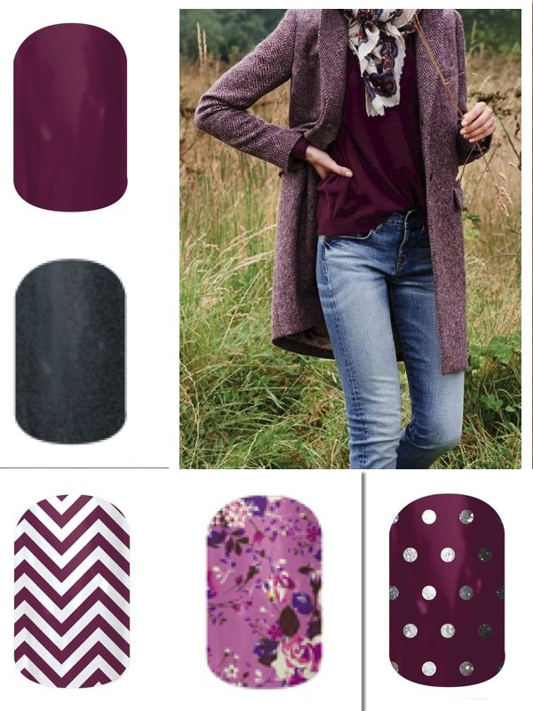 LOVE Purple!! Fall 2014 Jamberry Line... Purple and Gray!! www.jamsbyambernicole.jamberrynails.net