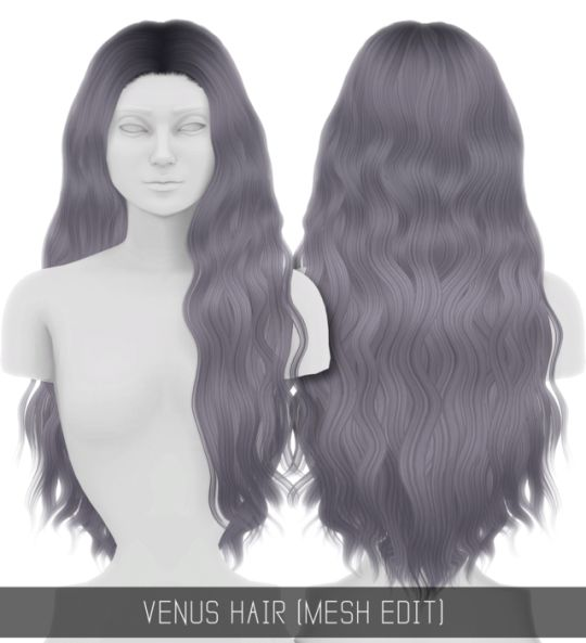 Sims 4 CC's - The Best: Venus Hair by simpliciaty-cc