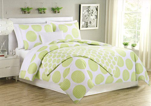 Max Studio 3pc Full Queen Duvet Cover Set Large Polka Dot