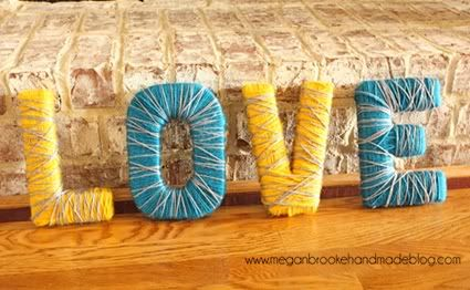 yarn wrapped letters: Crafts Ideas, Good Ideas, Brooks Handmade, Yarns Wraps Letters, Cute Ideas, Diy Monograms, Baby Rooms, Valentines Day Decor, Love Letters