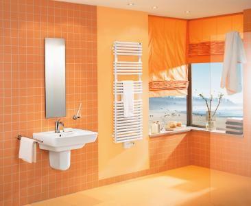 Orange bathroom design18 best Orange Bathroom Ideas images on Pinterest   Bathroom ideas  . Orange Bathroom Tile Ideas. Home Design Ideas