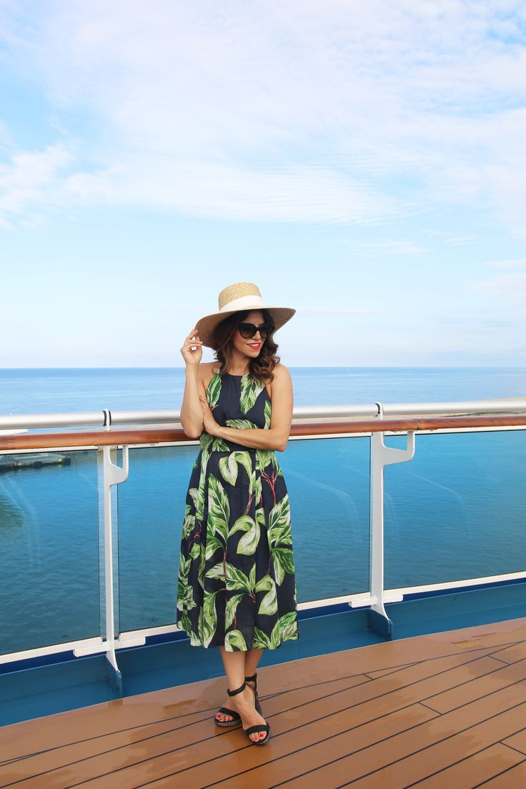 Flowing dresses and over-sized hats had Corporate Catwalk cruising in style while on Royal Princess! Explore the other outfits she wore from the Ann Taylor summer collection during her Mediterranean cruise.
