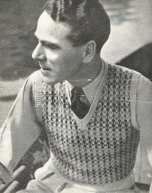1944 mens sweater vest - Google Search