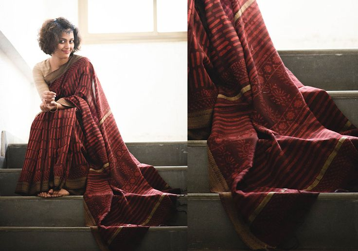 Cotton Sarees - Maroon039S Love For Chanderi By Suta - PC - 15630 - 2