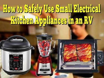 How to Safely Use Small Electrical Kitchen Appliances in an RV: Your RV is protected just like your home electrical systems are by... Read More: http://www.everything-about-rving.com/how-to-safely-use-small-electrical-kitchen-appliances-in-an-rv.html Happy RVing! #rving #rv #camping #gorving #leisure #outdoors