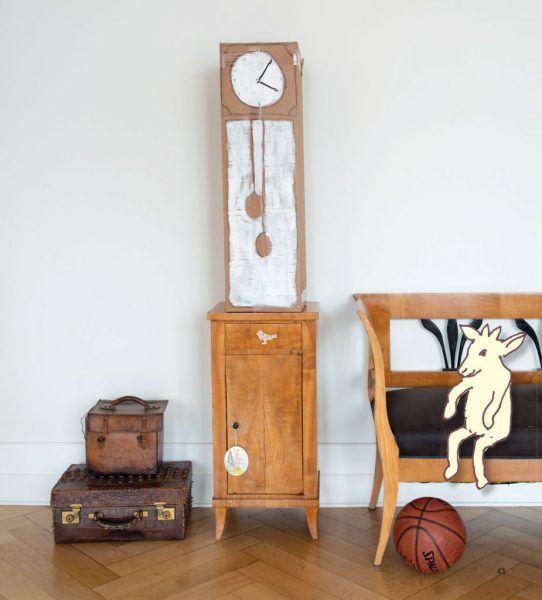 Uhr aus Pappe – Bonusprojekt aus dem Buch «Inselwelt und Ritterburg» von Claudia Scholl
