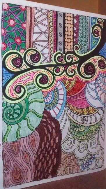 """Oitava ilustração de """" O livro anti-insônia"""". The can't Sleep Colouring Book ( Creative Colouring for Grown-Ups."""