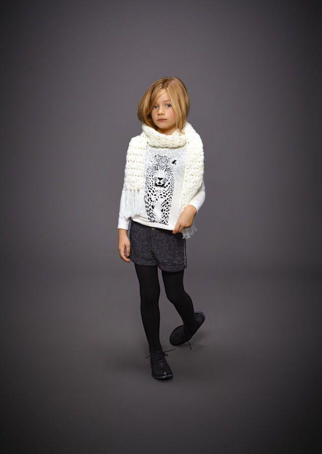 Short fille et écharpe IKKS : look mode enfant