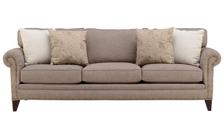 A classic and stunning sofa, accented with nailhead trim! A perfect neutral sofa for your home.