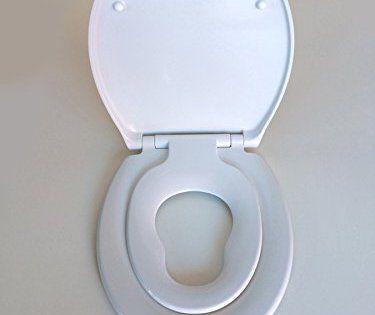 Siège WC ADOB pour enfants et toute la famille avec rabaissement automatique, amovible pour faciliter le nettoyage de la céramique: Idéal…