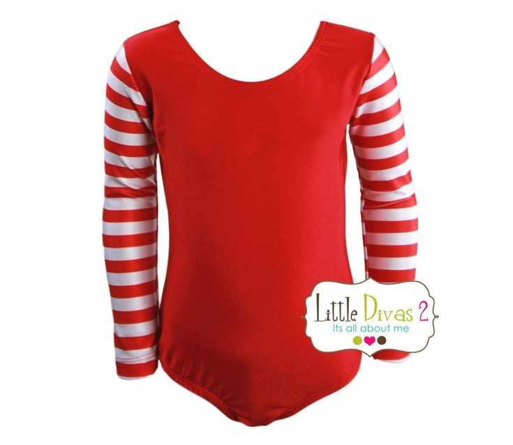 X-Mas Red LEOTARD (Child) Long Sleeve