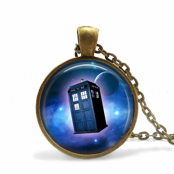 Necklaces – Necklace Tardis Children's Jewellery – a unique product by MadamebutterflyMeagan on DaWanda