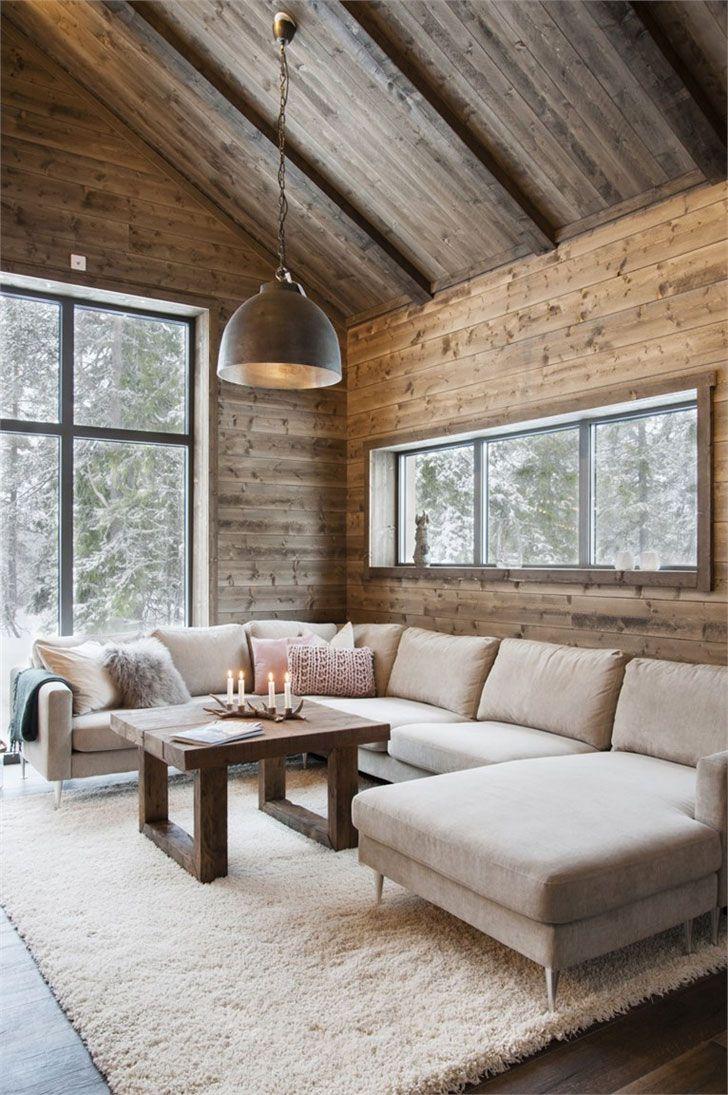 Все мы привыкли, что лучшие зимние курорты находятся в Альпах или Пиренеях, а лучшие горные домики — это французские или швейцарские шале. Но ведь не нужно забывать, что в скандинавских странах тоже много горнолыжных трасс, а скандинавы уж точно умеют делать красивые деревянные коттеджи. Сегодня с удовольствием делимся с вами фотографиями очень уютного современно дома из дерева …